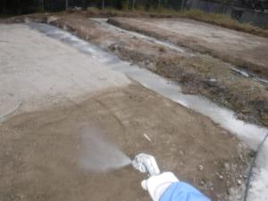 新築シロアリ予防の土壌処理
