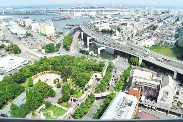 神奈川県横浜市の街